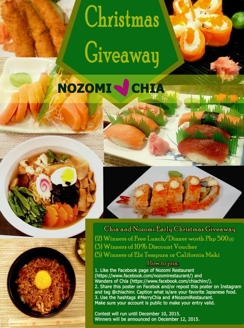 NozomiChia Xmas Giveaway Poster